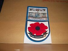 ROYAL AIR FORCE POLICE CAR WINDOW REMEMBERANCE STICKER.