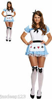 Alice in Wonderland Womens Fancy Dress Costume Outfit Deck of Cards Ladies Girl