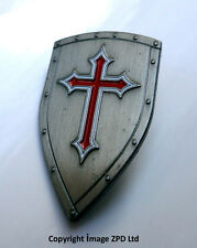 ZP286 Knights Templar Shield Crusader St George Crusade Cross Pin Badge Medieval