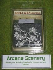 Grande GUERRA MINIATURES GERMAN INFANTRY maschere antigas G4 28mm