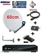 ANTENA PARABOLICA 60CM + LNB SHARP 3D+ SOPORTE+ LOCALIZADOR+ HDMI+QVIART COMBO 2