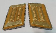 WWII WW2 German Political Gold thread collar tabs patch patches Uniform insignia