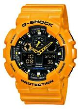Casio g-shock reloj ga-100a-9aer analogico, digital Orange