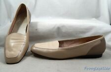 "Enzo Angiolini womens ""Liberty"" loafers shoes 9.5 M tan, beige, taupe leather"