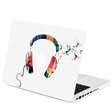 "Watercolor Headphone Graphic Matte Hard Case for Macbook Pro 13"" Model: A1278"