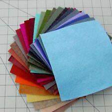 """27 - 6""""X12""""  Sheets Merino Wool blend Felt - Assorted Colors"""