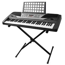 Electronic Piano Beginner Keyboard 61 Key Music Key Board Piano With X Stan