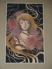 Audrey Kawasaki Things Unsaid signed numbered art print poster nude Asian Style