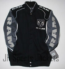 2015 SIZE L Authentic Dodge Ram Embroidered Cotton Jacket JH Design Black New LG