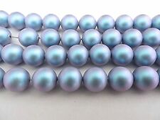 10 Iridescent Light Blue Swarovski Crystal Beads Pearls 5810 - 10mm