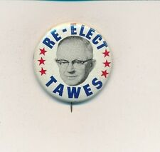 """1962 Millard Tawes for governor 1 1/2"""" litho Maryland MD campaign button"""