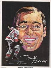 1970-71 DETROIT RED WINGS FRANK MAHOVLICH MARATHON GASOLINE HOCKEY PHOTO