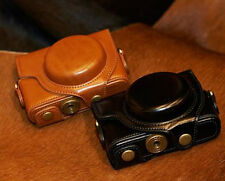 Leather Camera Case Bag Cover Protector For Sony DSC-RX100 RX100II M2