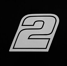 (2) # 2 Brad Keselowski Racing Vinyl Die Cut Decal Nascar Sticker 5""