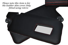 RED STITCH FITS HONDA PRELUDE MK3 86-91 2X SUN VISORS LEATHER COVERS ONLY