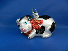 Pig Old World Christmas Ornament Blown Tree Glass County Animal NWT 12213
