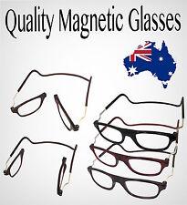 6d061d5f55 Magnetic Reading Glasses Semi Frameless Folded Hanging 1 1.5 2 2.5 3 Lens  3.00 Strength Red