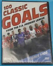 100 CLASSIC GOALS From The F.A Premier League Goals 1-100 {DVD} Brand New Sealed