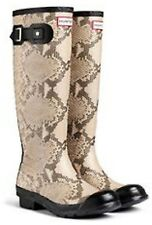 Hunter Unisex NEW Tall Carnaby Snake Natural 7M/8F US/39EU Orig $195