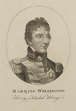 Marquis Wellington. Herzog von Ciudad Rodrigo. Sehr seltener Stich um 1815.
