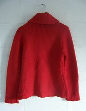 Pull col roulé Rouge Grosses mailles Taille 38/40 Impeccable