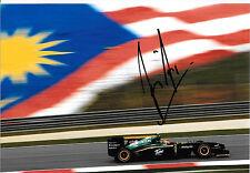 Fairuz Fauzy SIGNED F1 Lotus-Cosworth T127 , Malaysian GP  Friday Practice 2010