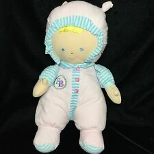 Goldberger Sammy Asthma Allergy Friendly Pink Blue White Stripe Plush Doll 12""