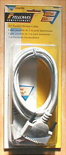 Fellowes 10' Parallel Printer Cable; SEALED NEW; DB25 Male to Centronics 36 Male