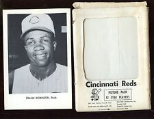 Early 1960's Cincinnati Reds Team Issued Photo Set of 12 With Envelope EX+