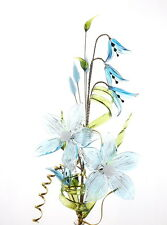 Light Bluebells With Flowers Crystal Ornament Decoration For Home Gift For Her