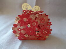 NEW RED BUTTERFLY FLOWER PATTERN SWEET WEDDING GIFT FAVOUR BOX (1)
