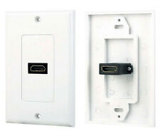 1-Port HDMI Wall Face Plate Panel Cover Coupler Outlet Extender 3D 1080P - White