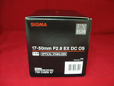 Sigma 17-50mm F2.8 EX DC OS HSM Lens made in Japan for Canon APS-C DSLR Camera