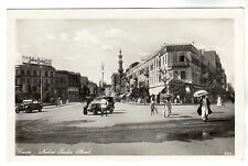 Nubar Pasha Street - Cairo Real Photo Postcard c1930s
