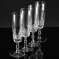 4 edle Vintage Eisch Sektgläser Kristall Gläser Kreuz Linsen Schliff Glas W3C