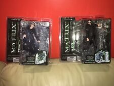 Matrix two Action Figures NEO and TRINITY Lobby Scene, McFarlane, unopened.