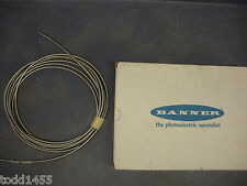 Banner IF218S Sensor 17924 Fiber Optic Glass Cable End Assembly Stainless New