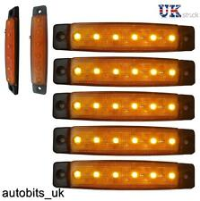 5 pcs 12V SMD 6 LED YELLOW SIDE MARKER LIGHTS POSITION TRUCK TRAILER LORRY CAB