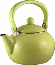 Lime Reston Lloyd 2 quart Harvest Tea Kettle Enamel on Steel 30901 Green New