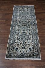 Semi Antique Hallway Light Kashan Persian Runner Rug Oriental Area Carpet 3X10