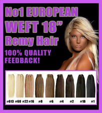 """EUROPEAN WEFT DOUBLE DRAWN 18"""" Hair Extensions!! Hand-tied! EXCEPTIONAL QUALITY"""