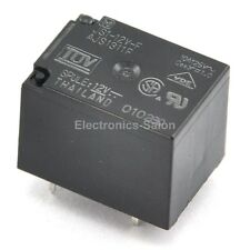 2x Panasonic JS1-12V-F 10A Cubic Type Power Relay, SPDT / 1 Form C, DC 12V.