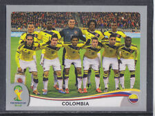 Panini-Brasil 2014 World Cup - # 185 Colombia equipo Grupo-Platinum
