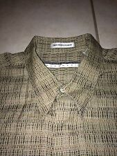 Men's Jhane Barnes Menswear Hidden Button Up Down Shirt Abstract Art Wild Vtg XL