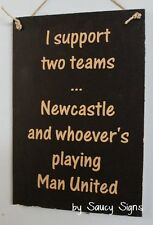 Newcatle United Magpies v Man U  Manchester EPL English Football Soccer Sign