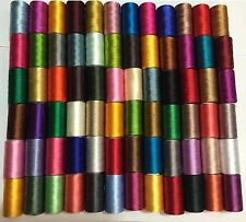 Top 75 Large Art Silk Rayon Sewing Embroidery Threads Spools Assorted Colours