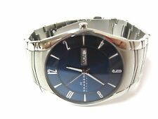 Skagen Men's Laurits Blue Dial Stainless Steel Quartz Watch - SKW6033