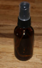 Brand New 2 Oz Glass Amber Empty Essential Oil Bottle Vial with Spray Black Top