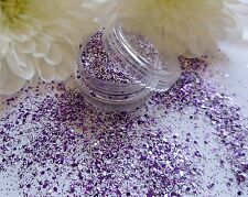 Nail Art Purple White Sparkle Glitter Powder Dust Mix Pot Tips Nail Decoration