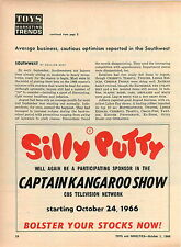 1966 ADVERT Silly Putty Captain Kangaroo Show CBS Toy Toys Play
